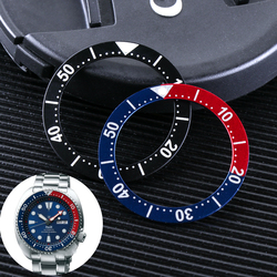 Lume Pearl Aluminum Bezel Insert Man Lady For Seiko Diver Prospex Watch Replace Accessories Ring GMT Colorful Dial  S/M/L Size