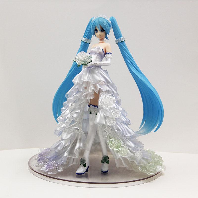 25CM Hatsune Miku fleur mariage mariage Hatsune gracieux PVC Art artisanat enfants cadeau jouet Action Figure jouet