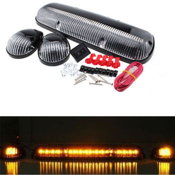 30 LED Cab Roof Running Top Warning Light Set For 2002-2007 Chevy Silverado/GMC Sierra/Ford SUV