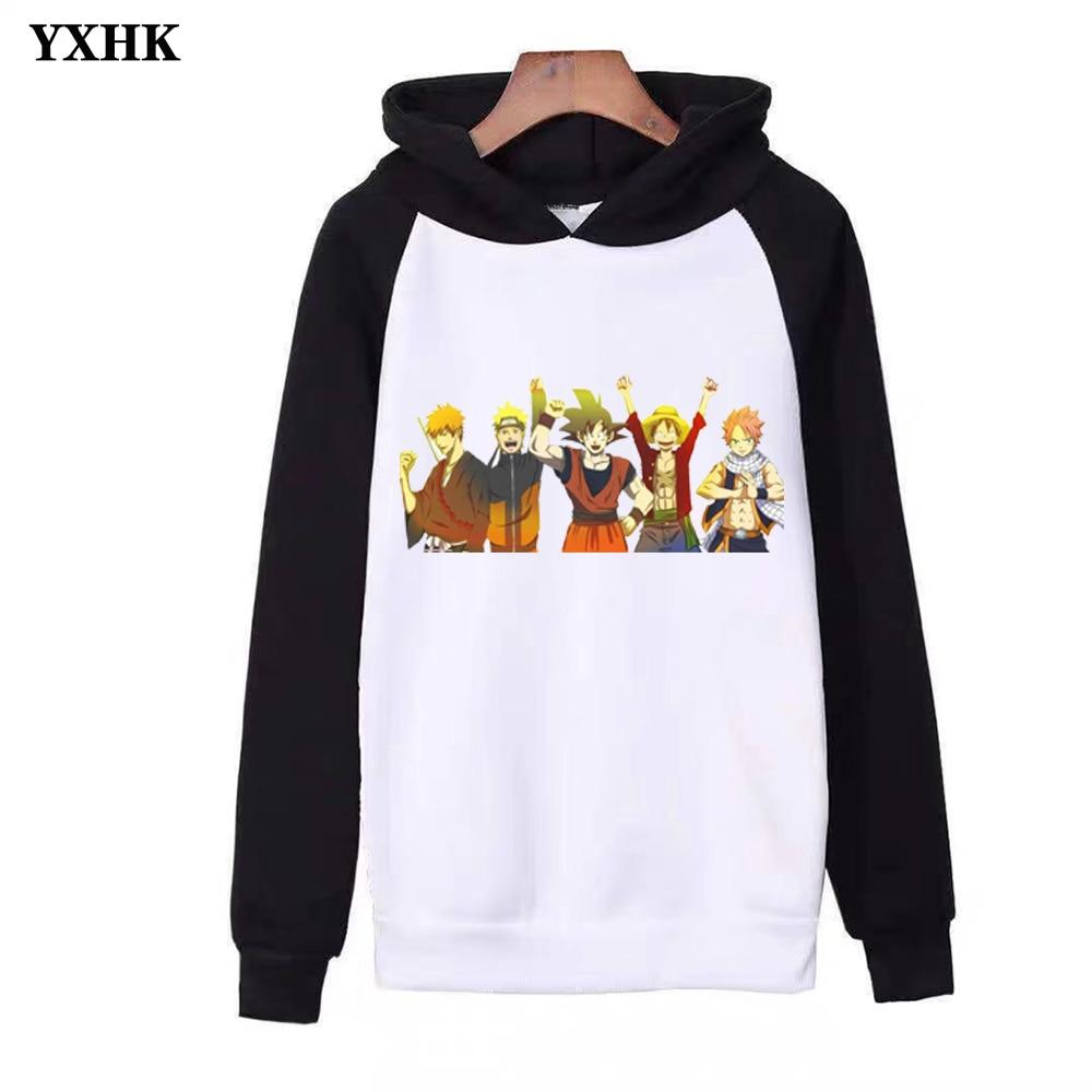 One Piece 2019 Brand Naruto Dragon Ball Hooded Sweatshirts Print Women Men 39 s Hoodies Harajuku Man Casual Hoodie Kpop Streetwear in Hoodies amp Sweatshirts from Men 39 s Clothing