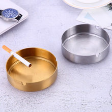 Stainless steel gold-plated ashtray internet cafe ashtray soot restaurant ashtray hotel durable ashtray 3 4477 extrusion switch stainless steel ashtray silver