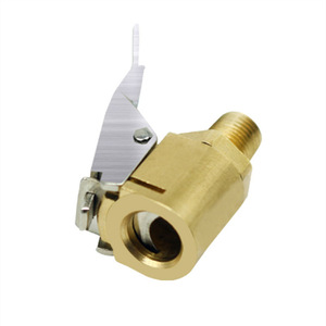 Image 2 - 1PC Auto Auto Messing 8mm Reifen Rad Reifen Air Chuck Inflator Pumpe Ventil Clip Clamp Stecker Adapter Auto zubehör für Kompressor