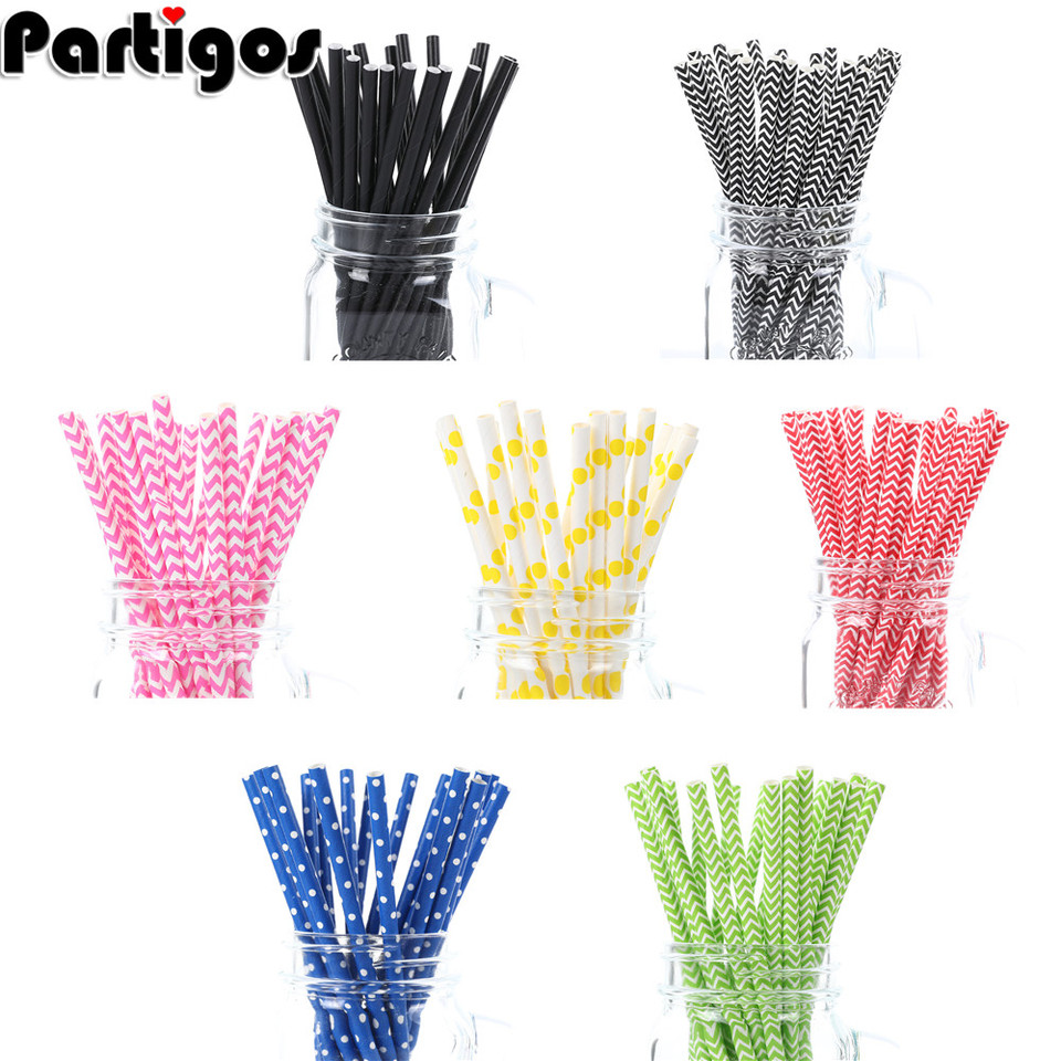 25pcs Black Red Drinking Paper Straws Halloween Christmas Baby Shower Birthday Party Decorations Gift Party Event Supplies Aliexpress