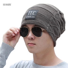 2019 Brand Men's Knit Hat Beanies Men Winter Hats For Men Bonnet Skullies Caps Women Winter Beanie Warm Thicken Baggy Mask Hats цена в Москве и Питере