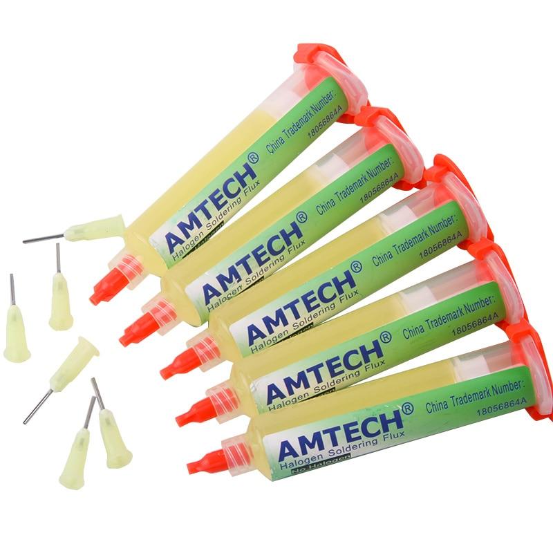 Paste 100% Original AMTECH NC-559-ASM BGA PCB No-Clean Solder Paste Welding Advanced Oil Flux Grease 10cc Soldering Repair Paste
