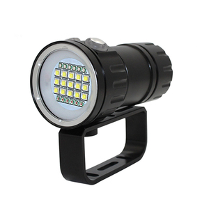 Image 2 - XHP90 فيديو ملء ضوء الغوص عمق 80 متر مصباح يدوي تحت الماء XM L2 أزرق أبيض أحمر التصوير كاميرا فيديو الشعلة الإضاءة