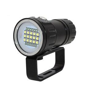 Image 2 - XHP90วิดีโอเติมแสงดำน้ำความลึก80Mไฟฉายใต้น้ำXM L2สีฟ้าสีขาวสีแดงการถ่ายภาพวิดีโอกล้องไฟฉาย