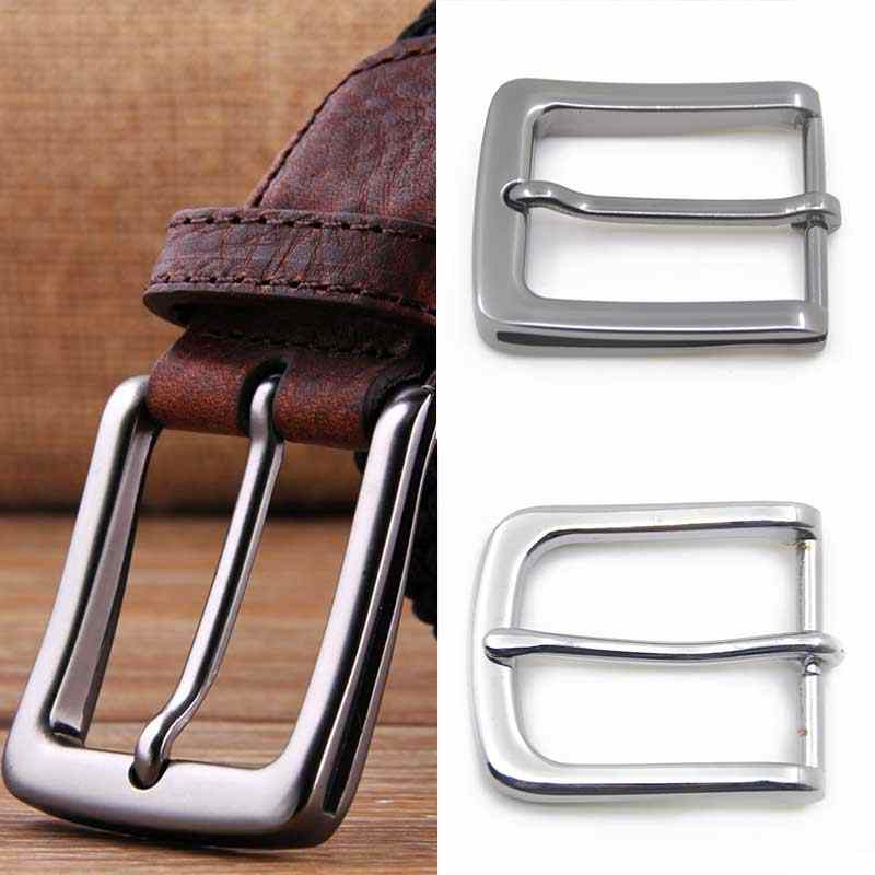 35mm Metal Pin Buckle 2020 Fashion Waistband Buckles Belt DIY Replacement Leather Craft Buckle High Quality Silver Accessories