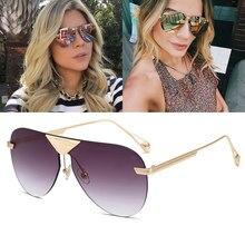 Mizho 2020 lente marrom unissex metal óculos de sol feminino piloto marca designer aviador óculos de sol para homens verão