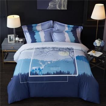 100%Cotton Duvet Cover Bed sheet Fitted sheet Bedding Set Queen King size Bedding sets Bed set ropa de cama parure de lit