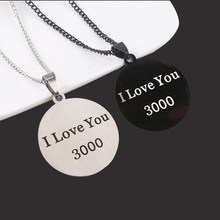 Midy Stainless Steel I Love You 3000 Kalung Kalung Tony Stark Iron Man Reaktor Busur Liontin Kalung Dukungan Dropshipping(China)
