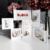 Multi frame Picture Frames White Photo Frames Home Decor Transparent Multifunctional Collage Photo Frames Set With Suction Cube