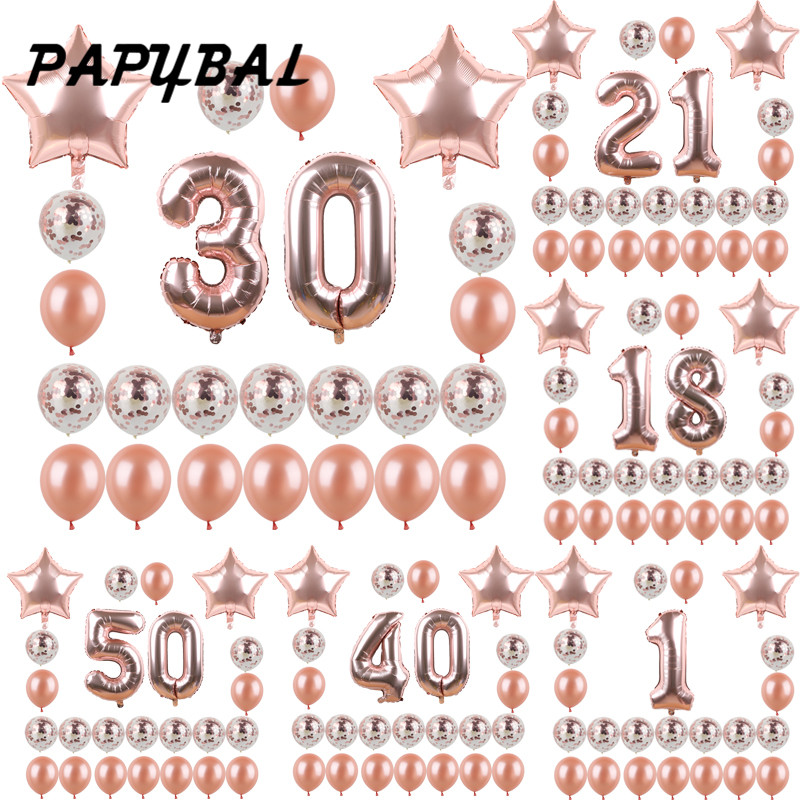 18, 21, 30, 40, 50, 60, 70 украшения для вечеринки в честь Дня Рождения