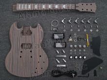 Afanti música diy guitarra elétrica corpo pescoço peças de ferragens elétrica diy kits de guitarra elétrica