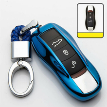 1pc TPU protective Remote Key Case Cover Strong Signal Dust-Proof For Cayenne Macan Panamera Boxster 911