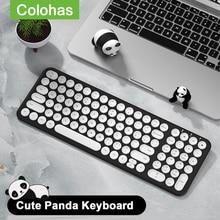 Gaming Keyboard Pc Gamer Keycap Laptop Macbook Round Wireless for Computer Silent Pro