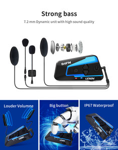 Image 4 - Lexin Bluetooth intercomunicador moto Helmet Headsets FM Radio 4 Ways intercomunicadores de casco moto intercom B4FM