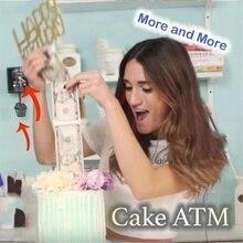 Торт ATM счастливое украшение для именинного торта коробка для денег смешная вытягивая делая форму YU-Home