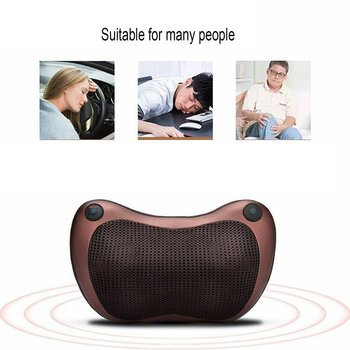 Relaxation Massage Pillow Vibrator Electric Shoulder Back Heating Kneading Infrared Therapy Pillow Shiatsu Neck Massager car neck pillow electric massage pillow massager cushion relax neck back shoulder pillows with heating