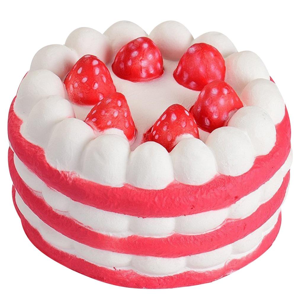 Soft Slow Rebound Cake Toy Artificial Cake Decor Simulation Cake Model Ornament Interesting Photo Props For Kids Children (Rando