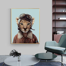 Милый Кот настенная живопись Холст мультфильм плакаты и настенные