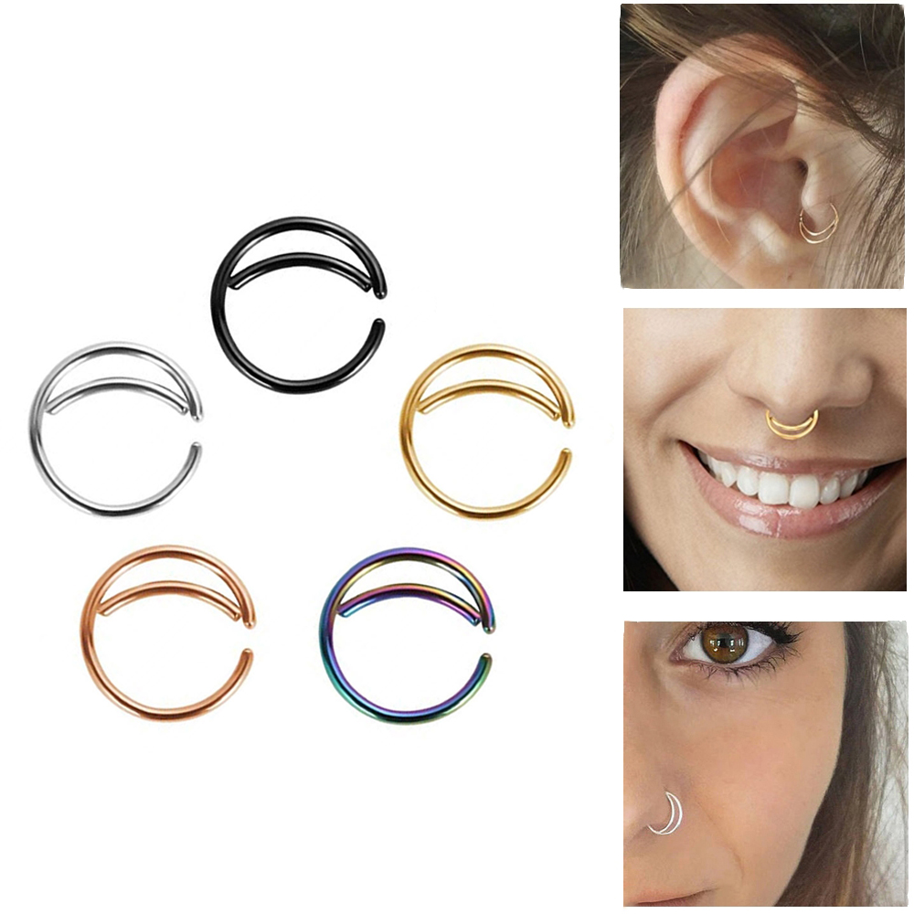 316l Stainless Steel Moon Nose Ring Hoop Indian Nose Ring Septum Ring Body Piercing Jewelry Nose Piercing Small Nose Hoop Body Jewelry Aliexpress