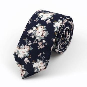 Fedrick Floral Printed 6cm Necktie – Navy