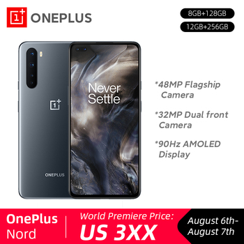 Nuevo OnePlus Nord 5G Snapdragon 765G 8GB 128GB 48MP Quad Cámara 90Hz Pantalla AMOLED 32MP doble frente Cámara Smartphone