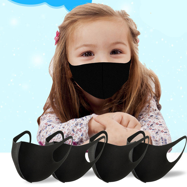 3Pcs/Lot For 2-8 Years Kids Children Mouth Mask Anti Pollution Mask PM2.5 Air Dust Face Masks Washable and Reusable Mouth Cover 4