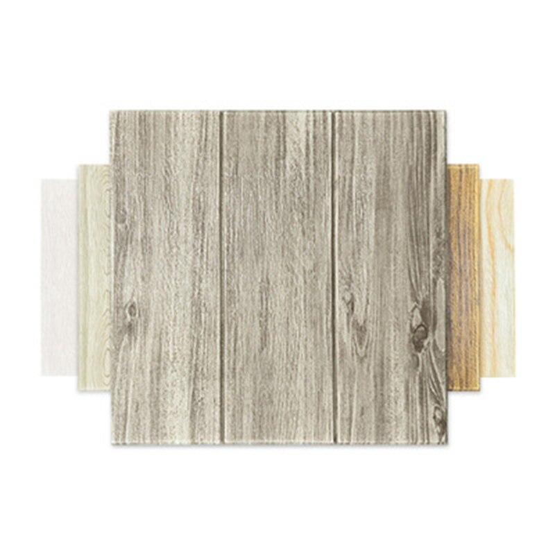 3d stereo wood grain wall sticker self-adhesive foam sticker waterproof and moisture-proof