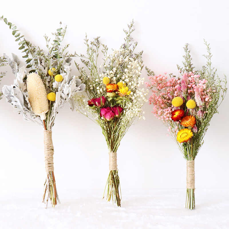 Natural Dried Flowers Gypsophila Bouquet Ins Dried Flower Arrangement Floral Wedding Home Decoration Dried Flowers
