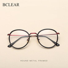 BCLEAR Alloy TR90 Glasses Frame Men Ultralight Women Vintage Round Prescription Eyeglasses Retro Optical Eyewear 2019 New