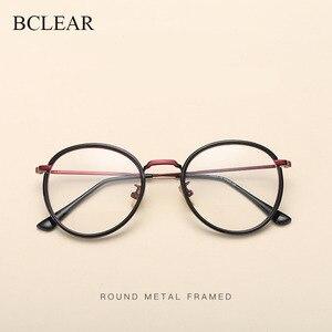 Image 1 - BCLEAR Alloy TR90 Glasses Frame Men Ultralight Women Vintage Round Prescription Eyeglasses Retro Optical Frame Eyewear 2019 New