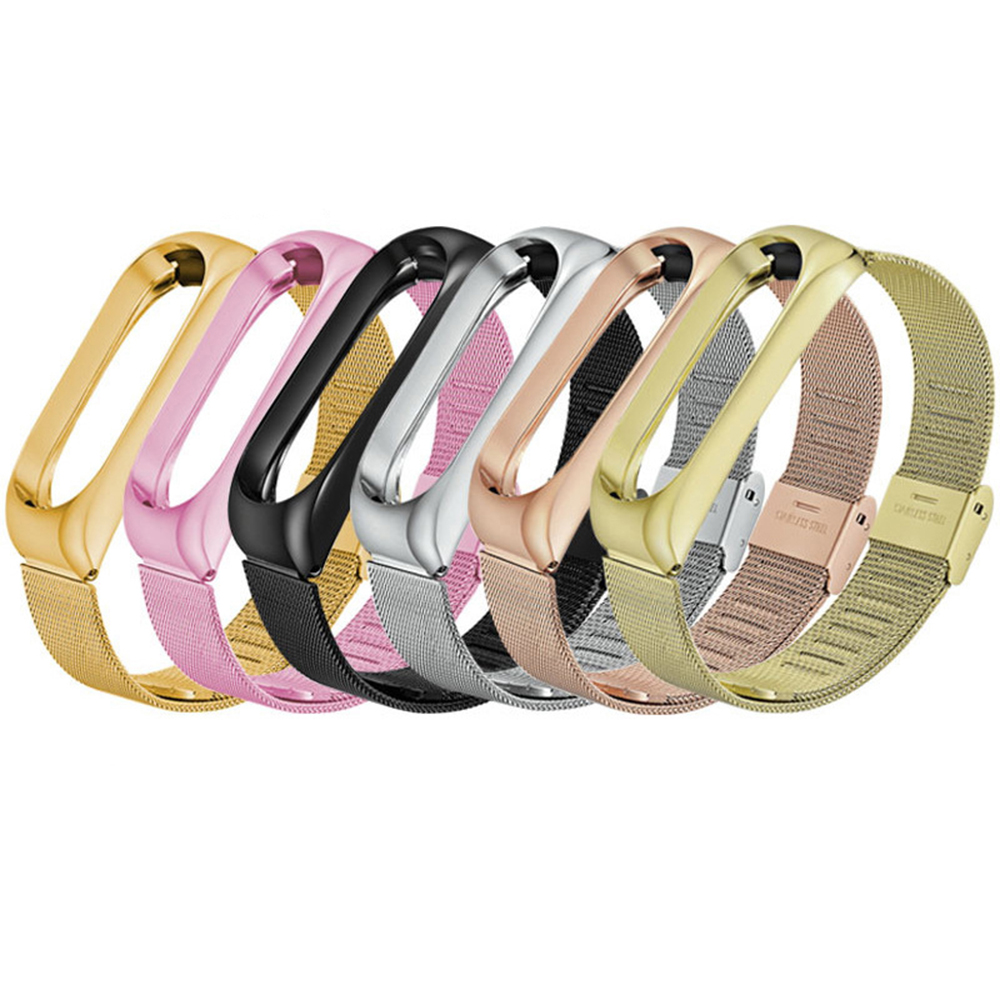 6 Colors Wrist Strap Miband 3 Wristband Smart Watch Band Mi Band3 Stainless Steel Metal Bracelet For Xiaomi Band 3 Strap For Mi3