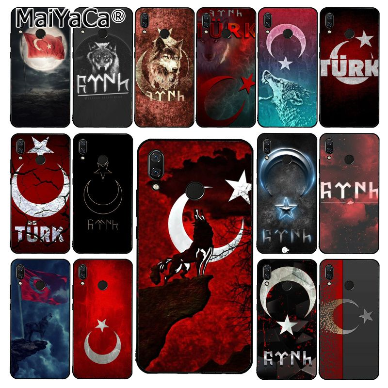 MaiYaCa Flag of Turkey <font><b>Istanbul</b></font> Antalya mustafa Wolf Phone Case for Xiaomi Redmi8 4X 6A S2 Go Redmi 5 5Plus Note4 5 7 Note8Pro image