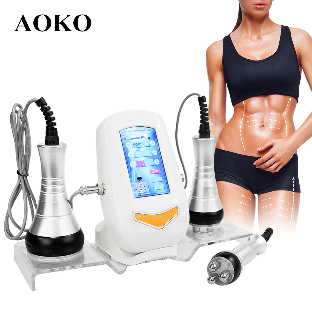 AOKO 40K Cavitation Ultrasonic Body Slimming Machine RF Multipolar Facial Skin Rejuvenation Beauty Machine Weight Loss Machine