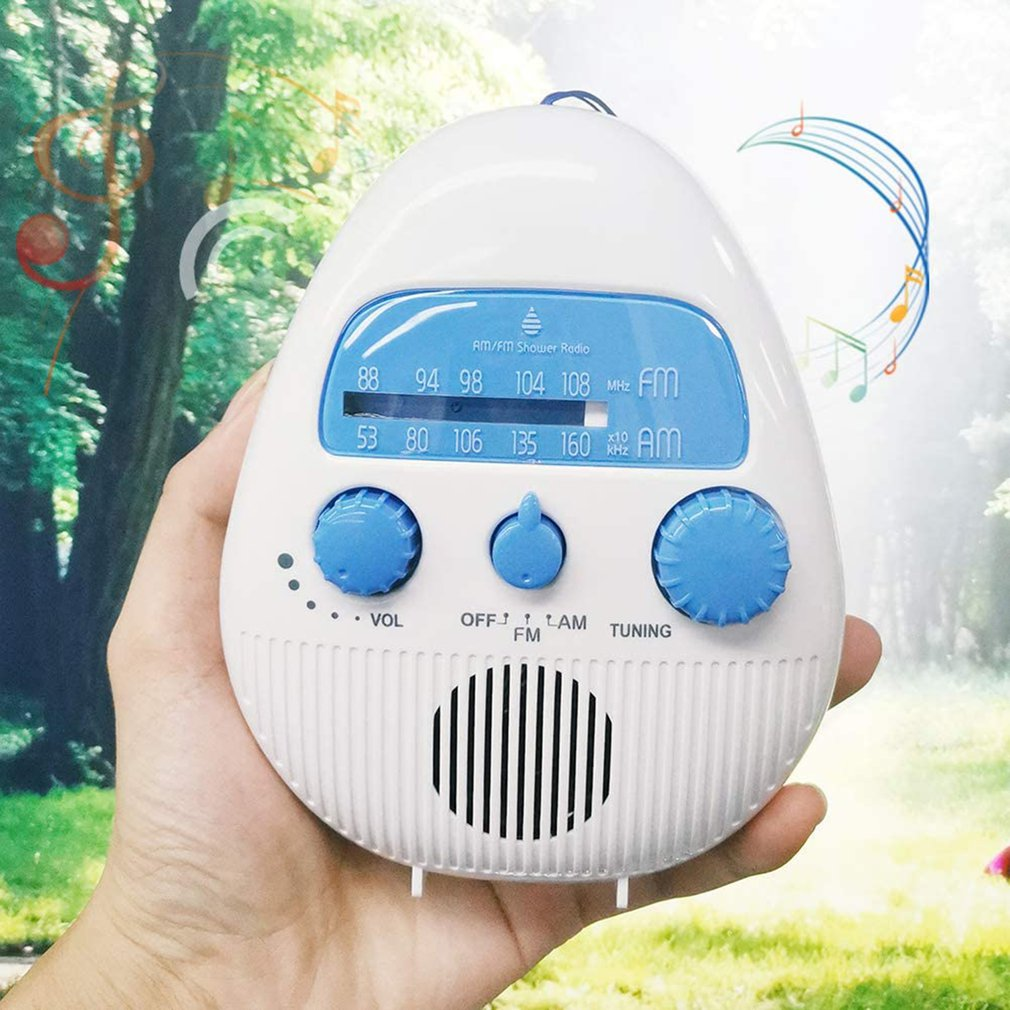 Waterproof Shower Radio Wireless Mini Portable Shower Radio Speaker With USB And TF Card Port & 96-bit High Definition