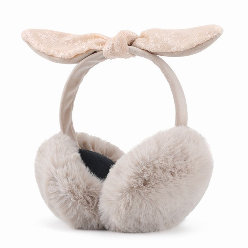 Women Earmuffs Winter Warm Outwear Big Bow-knot Ear Protection Travel Cycling Windproof Detachable Earmuffs
