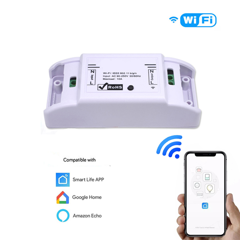 Amazon Alexa Compatible Google Home Smart Life APP Control Wireless WiFi Remote Smart Switch Home Improvement Automation Module