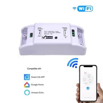Amazon Alexa Compatible Google Home Smart Life APP Control Wireless WiFi Remote Smart Switch Home Improvement Automation Module lemaic wifi smart switch waterproof touch panel w app remote control amazon alexa google home timing function for eu plug