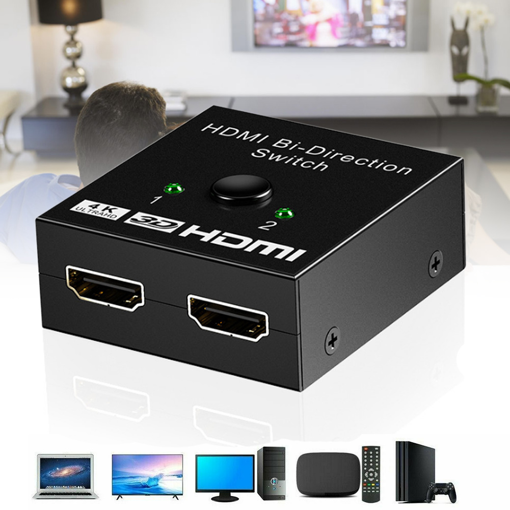 HDMI HDTV Switch Switcher Splitter Bi-Direction Hub Switch Support 4K High-definition DJA99
