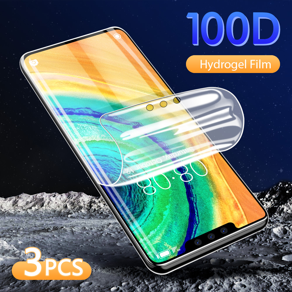 100D Screen <font><b>Protector</b></font> For <font><b>Huawei</b></font> P40 <font><b>P30</b></font> P20 <font><b>Pro</b></font> Lite Soft Hydrogel Film On For <font><b>Huawei</b></font> Mate 30 20 <font><b>Pro</b></font> Lite Film Not <font><b>Glass</b></font> image