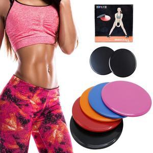 2PCS Sports Slides Gliding Slider Fitness Disc Exercise Sliding Plate For Yoga Gym Abdominal Core Training Exercise Equipment