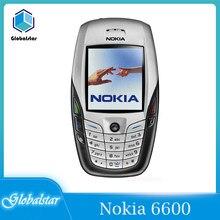 Nokia 6600 отремонтированный оригинальный NOKIA 6600 Мобильный телефон Bluetooth Камера разблокирована GSM Triband белый и один год гарантии