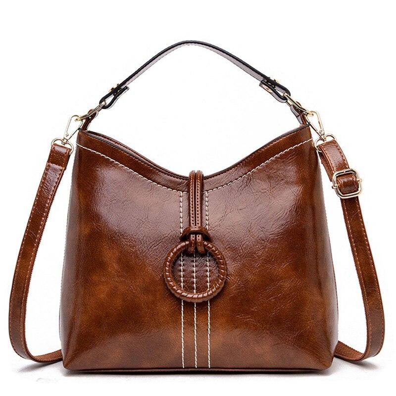 2019 Fashion Crossbody Bags For Women Retro Leather Handbags Luxury Handbags Women Bags Designer Female Shoulder Bag Sac A Main