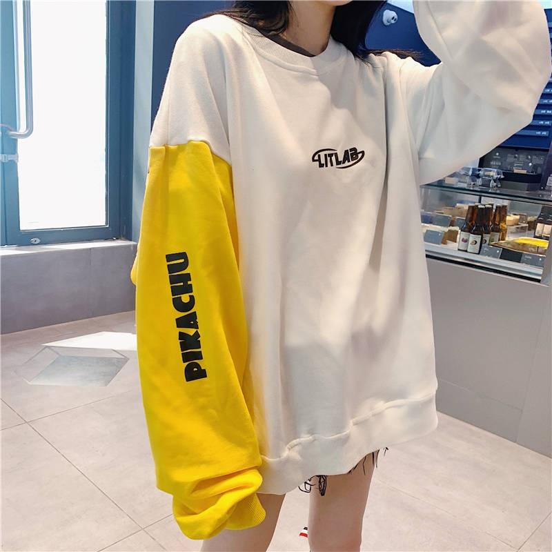 Chic Fashion Cute Pikachuu Pokedex T Shirt Pokemon Pocket Monsters Poketto Monsuta Women Casual Premium Shirt Long Sleeve Girl 3