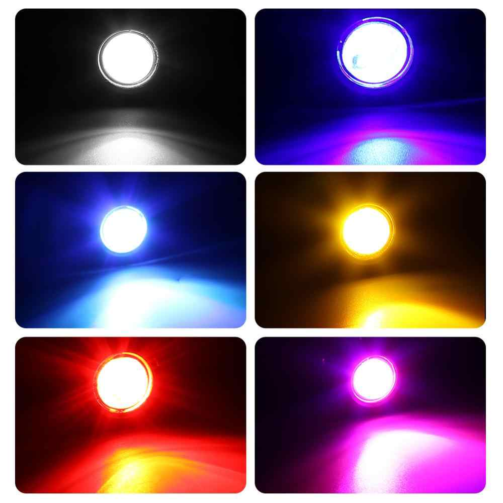 Olho de águia do carro luz led ultra fino 18mm 12 v auto luzes diurnas fonte backup invertendo estacionamento lâmpada sinal