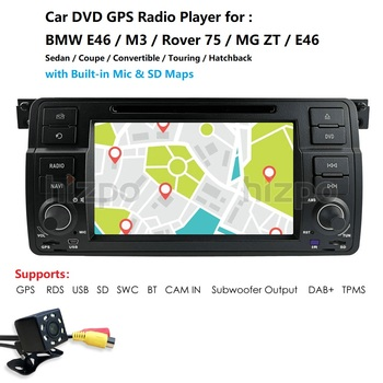 Car multimedia player DAB+ Autoradio DVD GPS for BMW E46 M3 325 3er 318 320 Rover75 MG Navi RDS VMCD 8G Maps BT SWC AM/FM RDS CD image