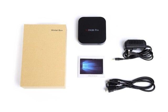 Usine de Wintel CX W8 Pro Mini Smart TV Box fenêtre 10 casa OS 2 GB/32 GB Wintel Pro BT4.0 1000M LAN mini