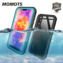 MOMOTS Shockproof Waterproof Case for Huawei P20 P20 Lite Mate 20 Pro 360 Silicone Transparent Case for Huawei P40 P30 Pro Funda